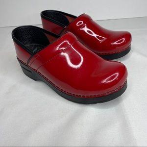 Cherry Red Dansko Clogs